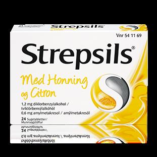 Strepsils m. honning/citron sugetabletter, 24 stk.