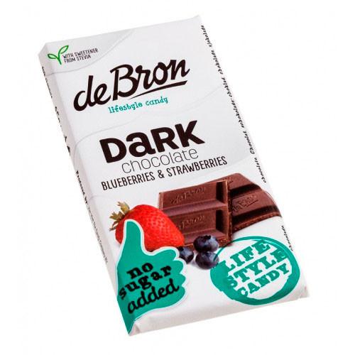 De Bron Stevia mørk chokolade med bær
