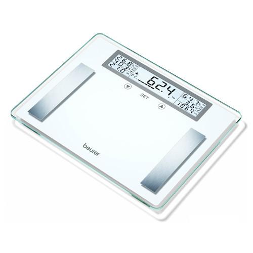 Glasvægt XXL m. kropsanalyse og BMI måling