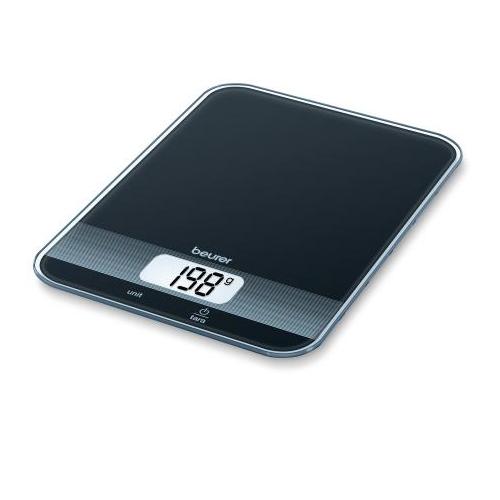 Beurer køkkenvægt i sort glas KS 19