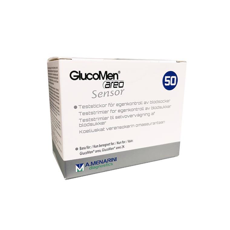 GlucoMen Areo Sensor teststrimler