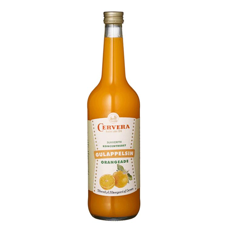 Cervera Gul appelsin orangeade - uden sukker tilsætning
