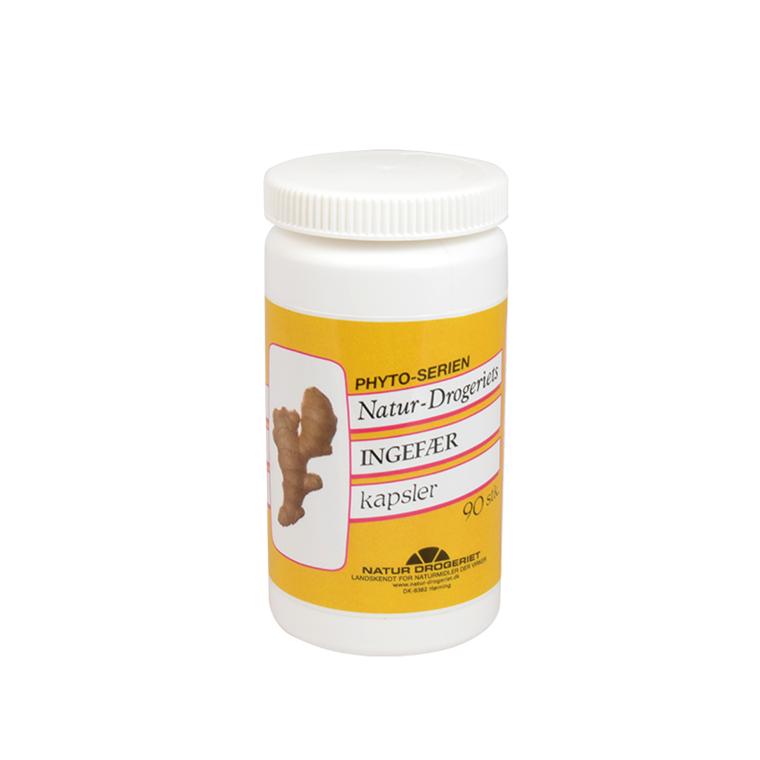 Natur Drogeriets Ingefær 400 mg., 90 kapsler