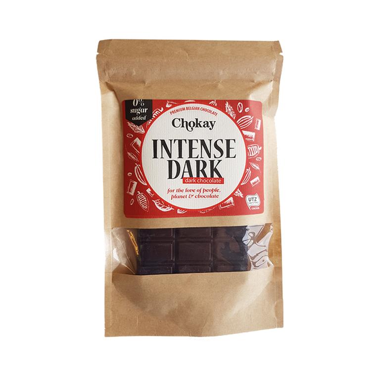 Chokay Intense dark chokolade uden tilsat sukker, 100 g