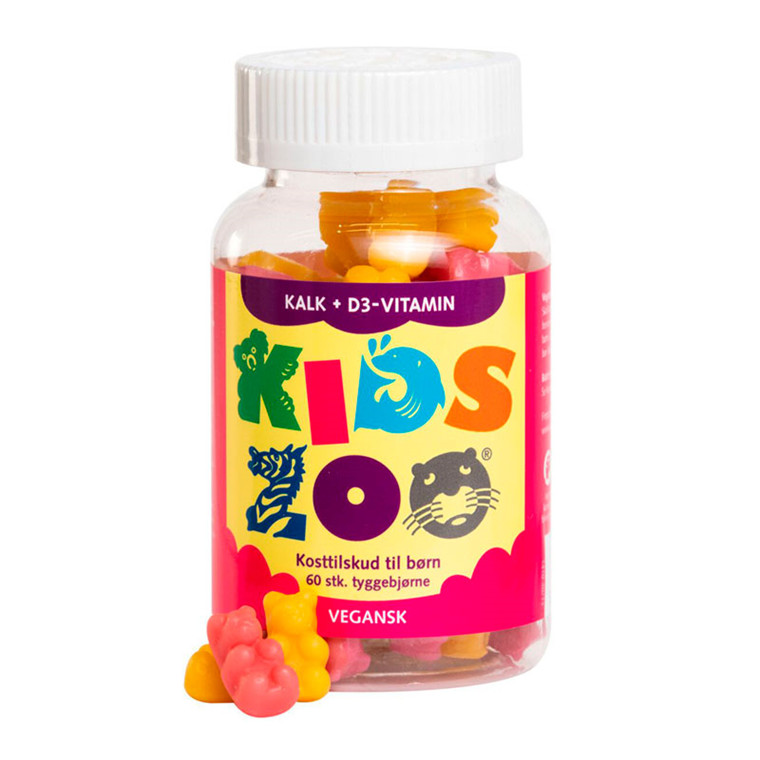 Kids Zoo Kalk + D-vitamin, 60 stk.