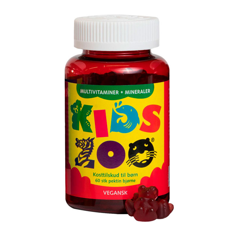Kids Zoo Multivitaminer og mineraler, 60 stk.