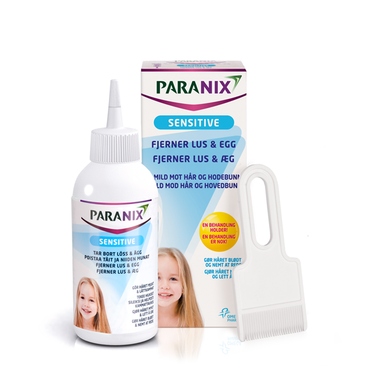 Paranix Sensitive m/tættekam, 150 ml.