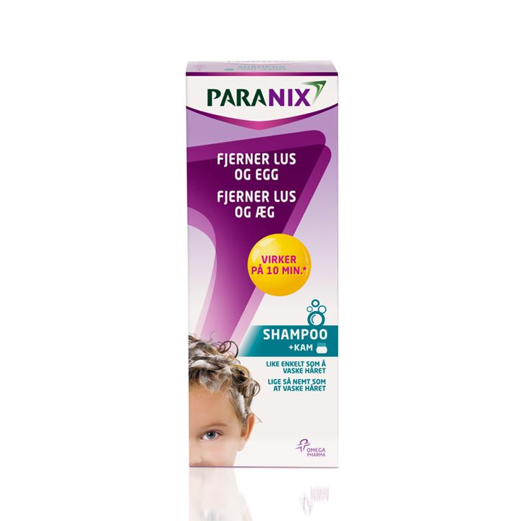 Paranix luseshampoo m/lusekam, 200 ml.