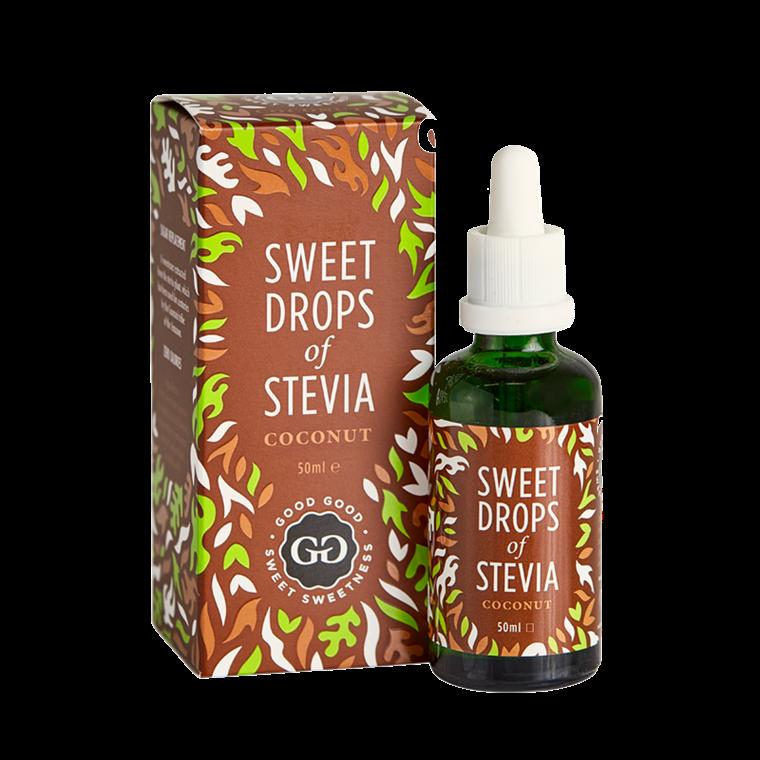 Stevia Dråber kokos - Sweet drops of stevia, 50 ml.