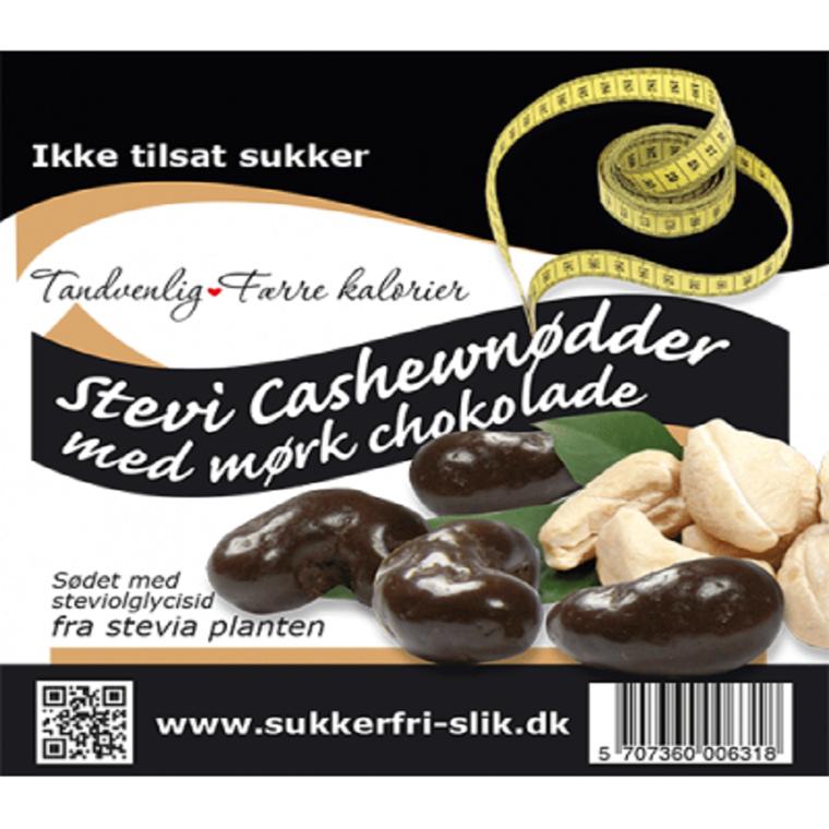 Stevia cashewnødder med mørk chokolade
