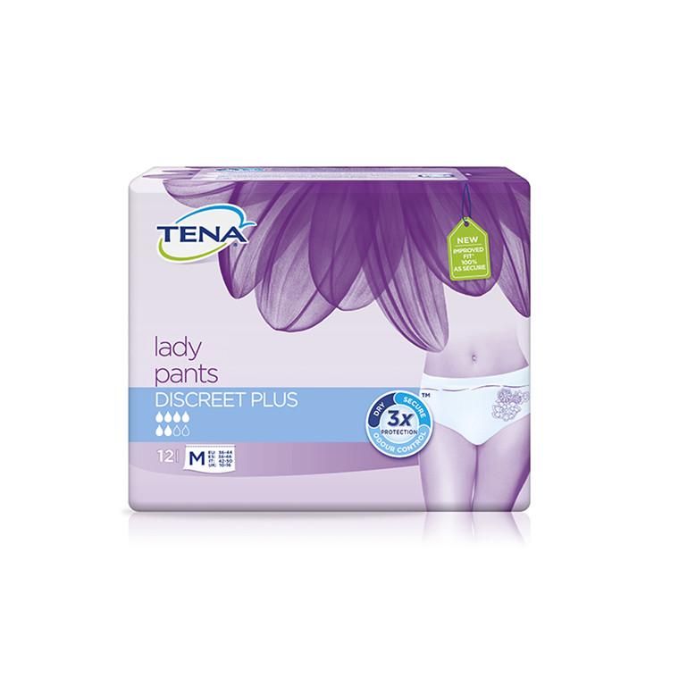 TENA Lady Pants Discreet Plus, str. M, 12 stk.