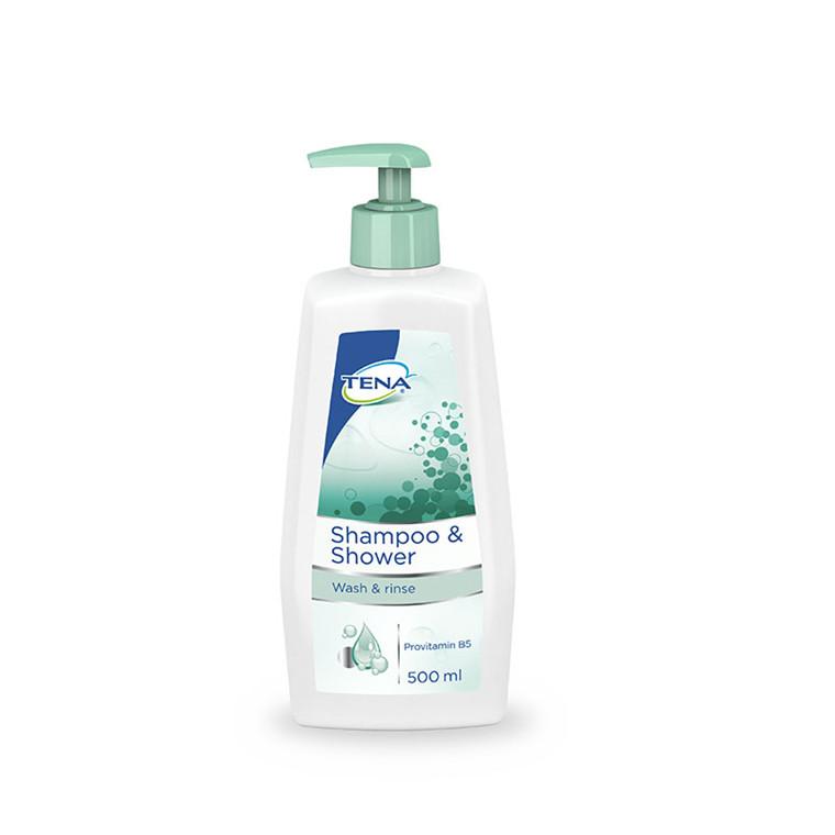TENA shampoo og shower, 500 ml.