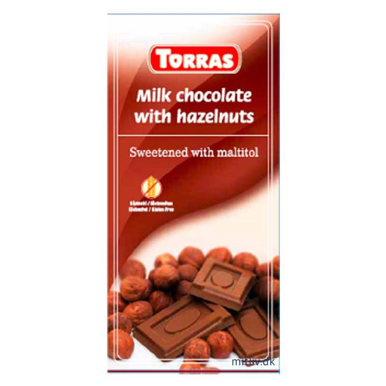 Mælke chokolade med hasselnødder