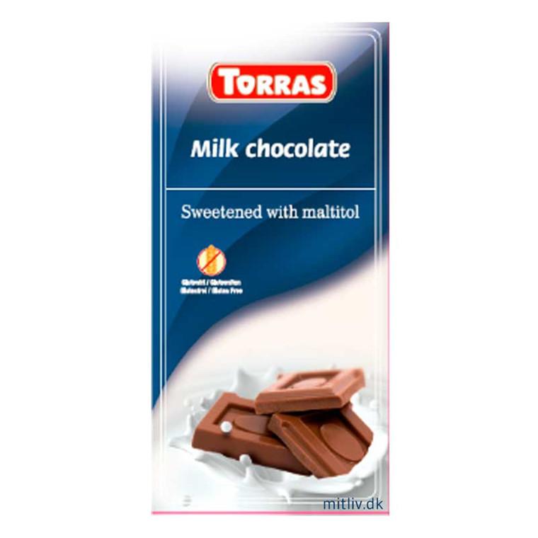 Mælke chokolade sukkerfri, 75g.