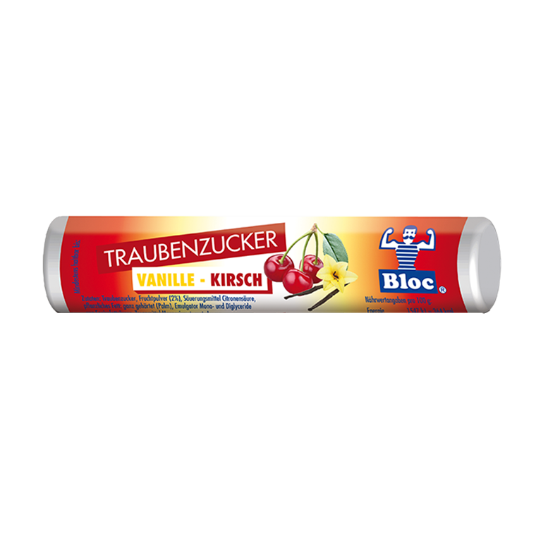 Bloc Druesukker Vanilje-Kirsebær
