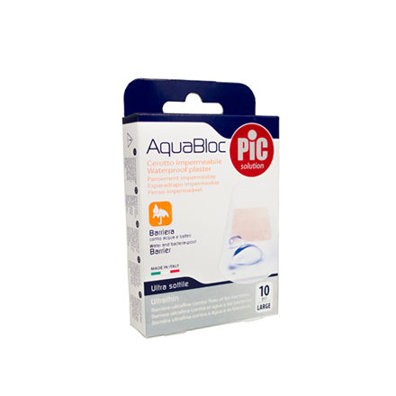 Aquabloc vandfast plaster, 25x72 mm., 10 stk.