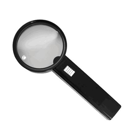 Håndlup 2X forstørrelse og lyskilde