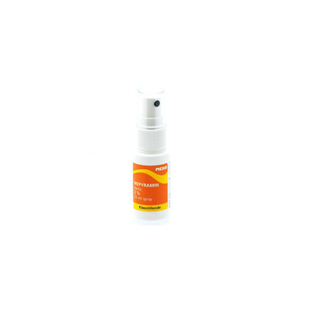 Mepyramin spray 2%, 25 ml.