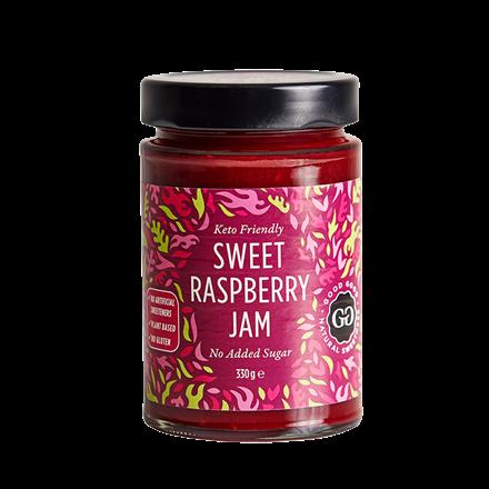 Hindbærmarmelade med stevia - Sweet Jam with stevia, 330 g
