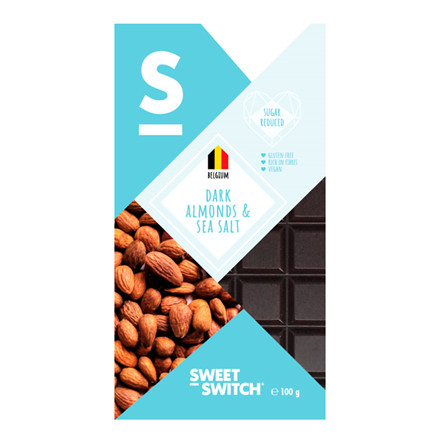 Sweet Switch Dark,  Almonds & Sea Salt