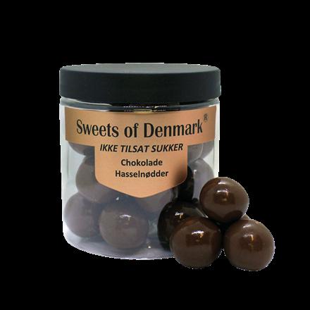 Sweets of Denmark chokolade hasselnødder uden tilsat sukker, 150 g.