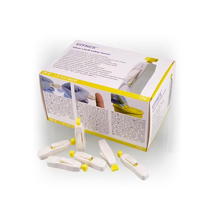 Vitrex  Lite III safety lancet gul 26G 1,8 mm, 100 stk.