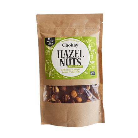 Chokay Hasselnødder m/chokolade uden tilsat sukker,  100 g
