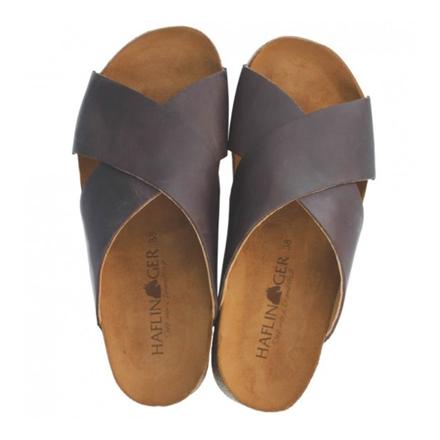 Haflinger Mio Bio-Sandal, Mørkebrun