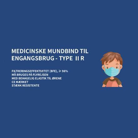 Børne Mundbind Type II R, 10 stk.