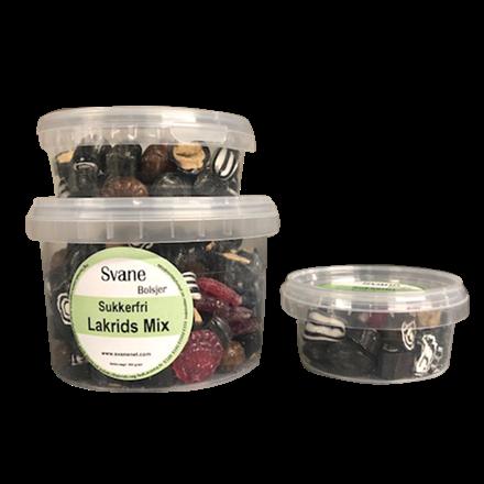 Svanenet sukkerfrie bolcher Lakridsmix m/stevia
