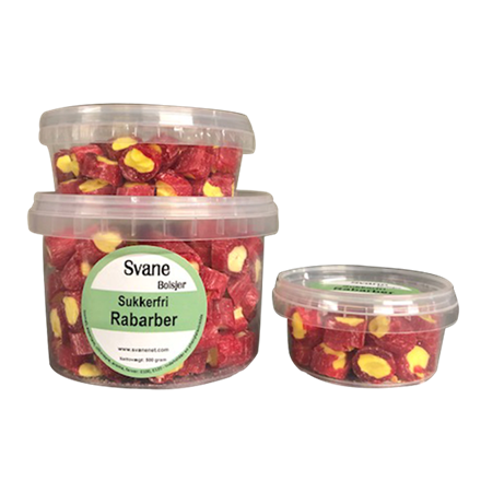 Svanenet sukkerfri Rabarber bolcher