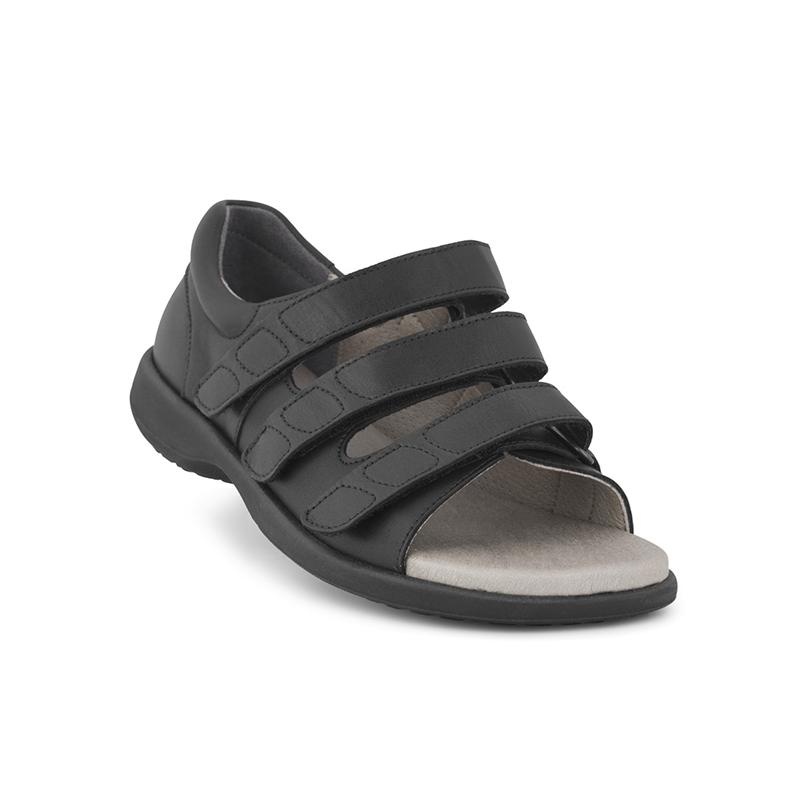 New Feet dame sandal med stabil hælkappe