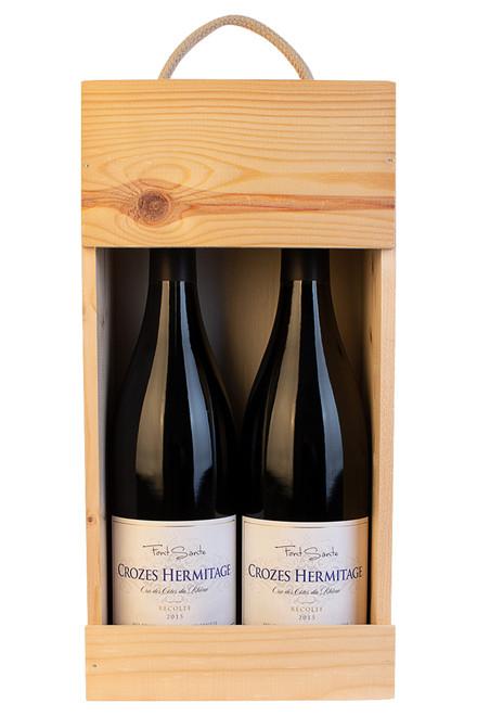 2 flasker Crozes Hermitage  i trækasse