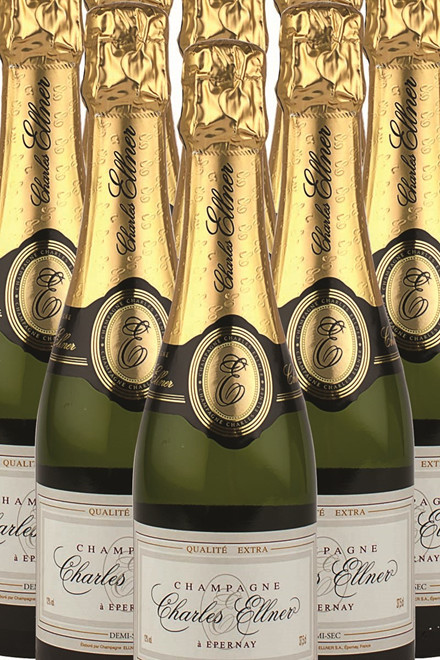 Champagne Ellner, Demi Sec ½ flaske