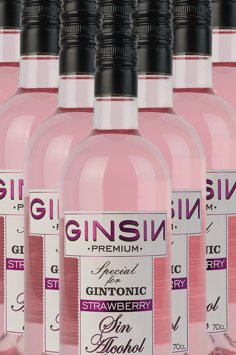 Ginsin Gin Strawberry (alkoholfri)