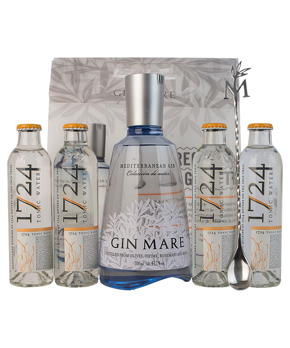 Gin Mare gaveæske med 4 fl. 1724 tonic