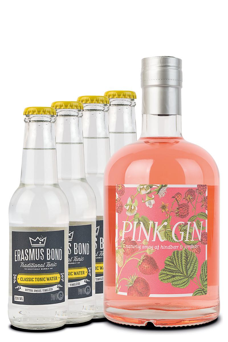 Pink Gin + 4 tonic