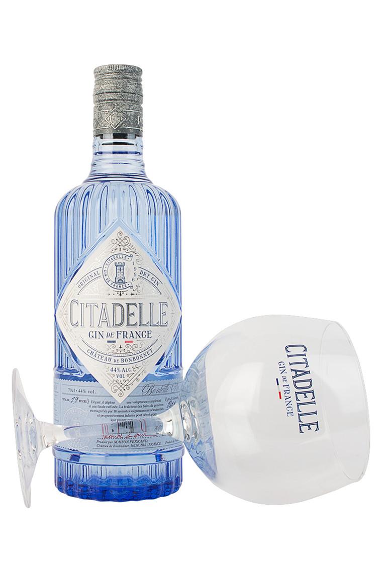 Citadelle med glas