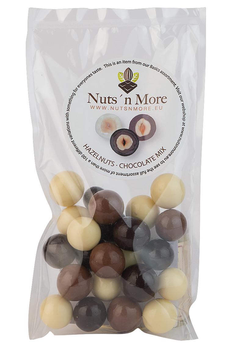 Hasselnødder chokolade hvid/mørk/lys