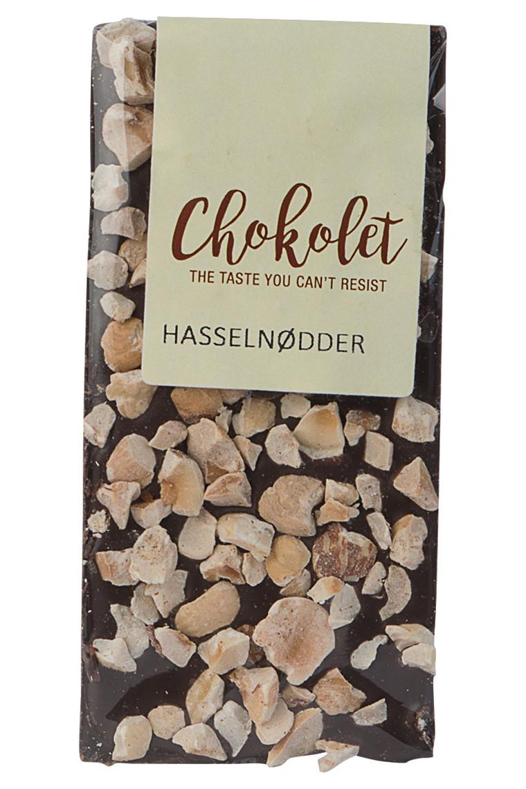 Mørk pladechokolade med hasselnødder