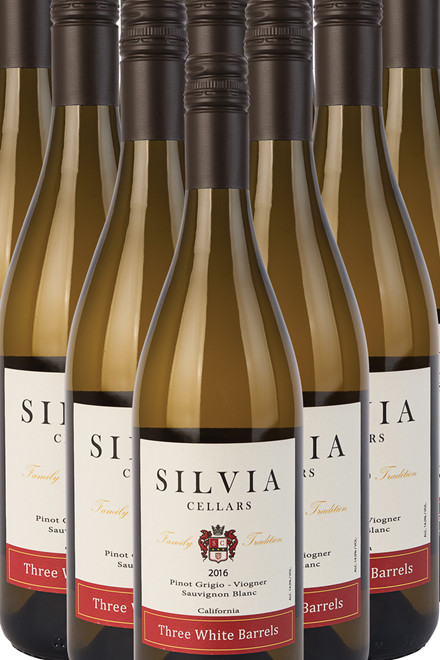 Silvia Cellars Three White Barrels