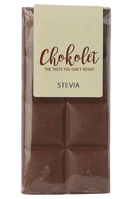 Lys pladechokolade med stevia