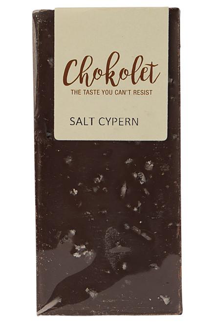 Mørk pladechokolade med salt fra Cypern