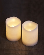 Tenna 2 LED candles H:6,5 cm white