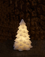 Carla Christmas tree H:16 x D:11 cm white