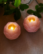 Helene LED 2 Lotus flowers Dia.7 cm rose