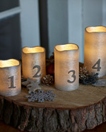 Tenna Silver Advent Candles 4 pcs set