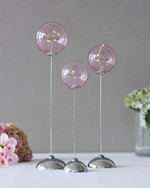 Pure Trio rose 3-glass balls w/remote