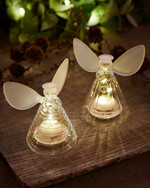 Iris 2 pcs. Glass Angles  H:10 cm frosted