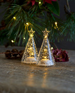Romantic Tree 2 pcs Set, H11,5 cm, Clear